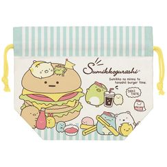San-X - San-X Sumikko Gurashi Cotton Drawstring Lunch Bag