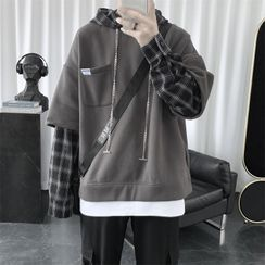 Wewewow - Mock Two-Piece Hoodie