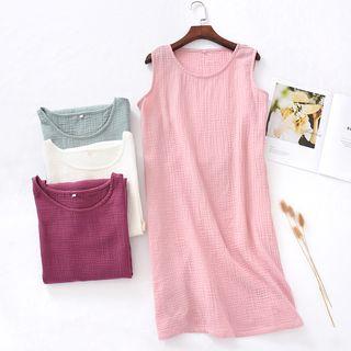 Dogini - Crew-Neck Sleeveless Pajama Dress