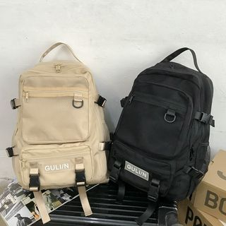 EAVALURE - Multi-Section Nylon Backpack