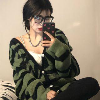 KARLY - Zebra Print Cardigan