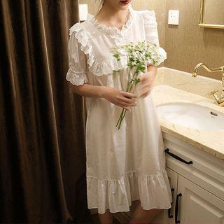 Meredith - 荷叶短袖睡衣 / 休閒短裤 / 睡裙 / 套装