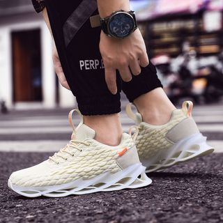 Auxen - Mesh Perforated Platform Sneakers