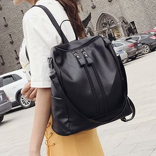 Diamante - Convertible Faux Leather Backpack