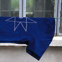 bleublack - Short-Sleeve Embroidered T-Shirt