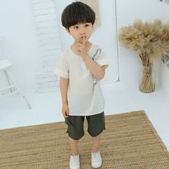 SEE SAW - Kids Set: Print Short-Sleeve T-Shirt + Shorts