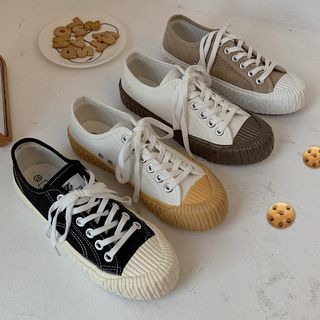 SouthBay Shoes - Canvas Lace-up Sneakers