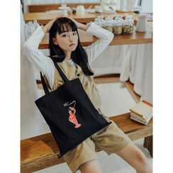 wallFLOWERz - 印花帆布购物袋