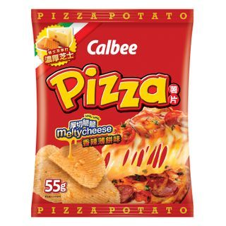 Calbee - Spicy Pizza Flavored Potato Chips 55g