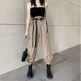 Windflower - 吊带背心 / 哈伦工装裤