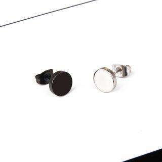 Prushia - 不鏽鋼圓碟耳環