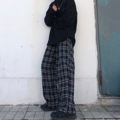 LINSI - Plaid Wide-Leg Pants