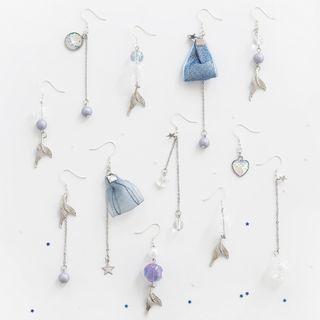 Phooka - Non-Matching Mermaid Drop Earring