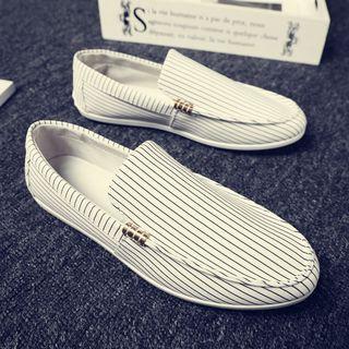 B-Z - Canvas Stripe Loafers