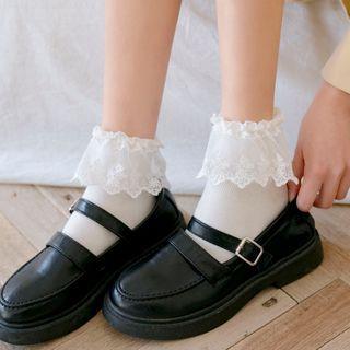 Mimiyu - Set of 3 Pairs: Lace Ruffle Socks