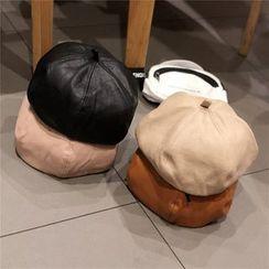 Hufu - Faux Pearl Beret Hat