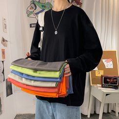 ChouxChic - Long-Sleeve Plain T-Shirt
