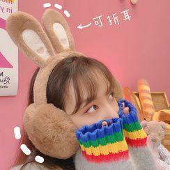 Yunikon(ユニコン) - Chenille Rabbit Ear Earmuffs