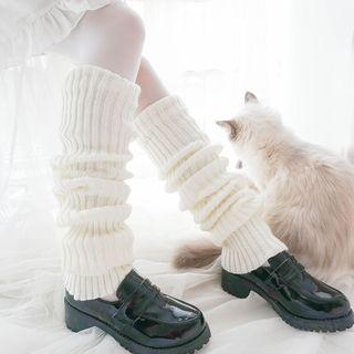 Nikiki(ニキキ) - Rib-Knit Leg Warmers