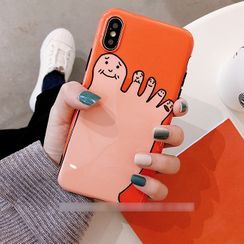 Gadget City - Cartoon Feet Print Mobile Case - iPhone XS Max / XS / XR / X / 8 / 8 Plus / 7 / 7 Plus / 6s / 6s Plus