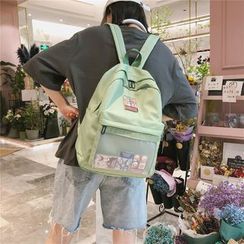 Buicase - Applique Nylon Backpack