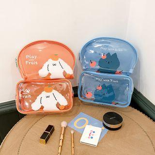 Chimi Chimi - 動物印花透明旅行化妝品小袋