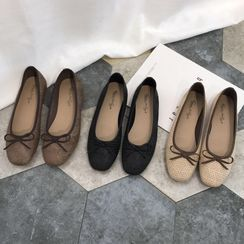 Queenie's Home - Bow-Accent Ballet Flats
