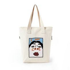Lozynn - Printed Canvas Tote Bag (Various Designs)