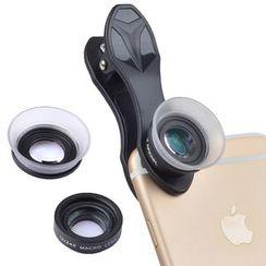 APEXEL - 2-in-1 Macro Clip On Mobile Lens with Lens Hood