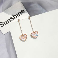 Jasminte - Heart Dangle Earring