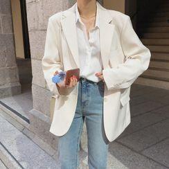 Sendoman - Plain Single-Breasted Blazer