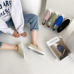 PPGIRL - Plain Colored Slip-Ons