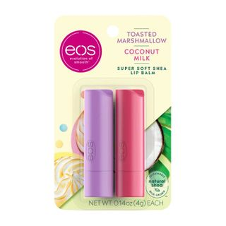 eos - Toasted marshmallow and coconut milk 2-pack lip balm