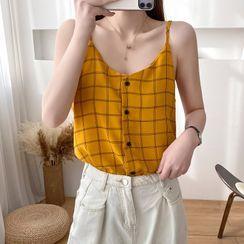 Donnae - Plaid Camisole Top