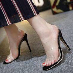 Niuna - Clear Strap High Heel Sandals