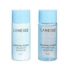 LANEIGE - Basic Care Trial Kit Moisture: Essential Power Skin Refiner 15ml + Essential Power Emulsion Moisture 15ml