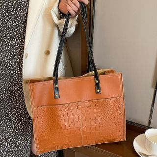 Road to Love - Faux Leather Tote Bag