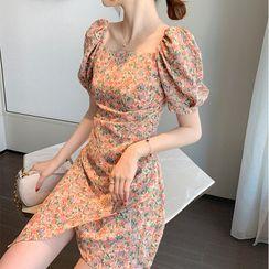 Donnae - Short-Sleeve Floral Print Dress