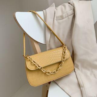 Shimme - Croc Grain Shoulder Bag