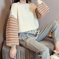 Bubble Pop - Striped Panel Sweater