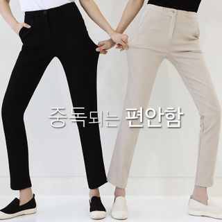 Lemite - Band-Waist Straight-Cut Pants