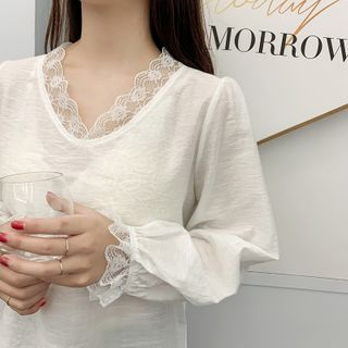 Arconte - Lace Trim Blouse