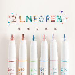 Hera's Place - Dual Color Double Line Marker Pen