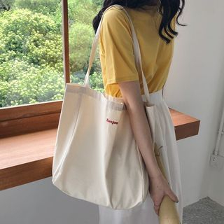 Milha - Lettering Canvas Tote