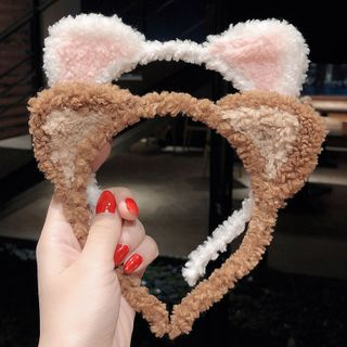 Miss Floral - Shearling Cat Ear Headband
