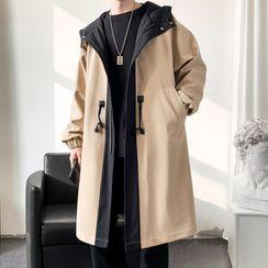 Bay Go Mall - Long Hooded Zip Coat