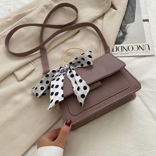 Shimme - Metal Handle Mini Flap Crossbody Bag