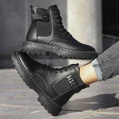 Tanzanite - 饰扣短筒切尔西靴子