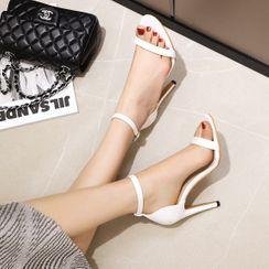 Megan(ミーガン) - Ankle Strap High Heel Sandals