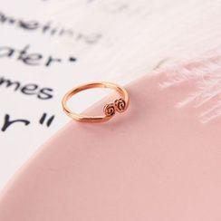 Infini - 18K Rose Gold Plated Tightening-crown Ring